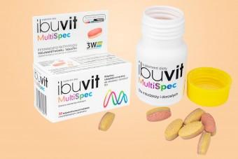 Ibuvit Multi Spec, multiwitamina o przedłużonym uwalnianiu, witaminy i minerały 100% RWS