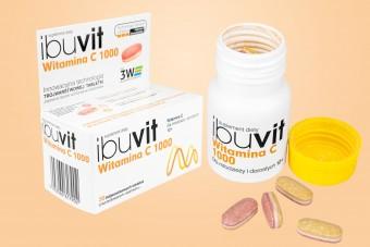 Ibuvit Witamina C 1000 mg, 30 tabletek o przedłużonym uwalnianiu, witamina C ibuvit, wit c