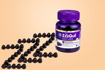 ZzzQuil Natura, melatonina w żelkach, na sen, 30 żelek, żelki z melatoniną