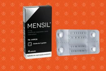 Mensil 4 tabletki do rozgryzania i żucia 25 mg sildenafil