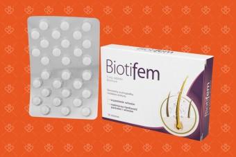 Biotifem, na włosy i paznokcie, biotyna 5 mg, biotyna lek, biotyna na włosy