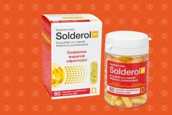 Solderol 2K, witamina d o przedłużonym uwalnianiu, witamina d 2000 kapsułki