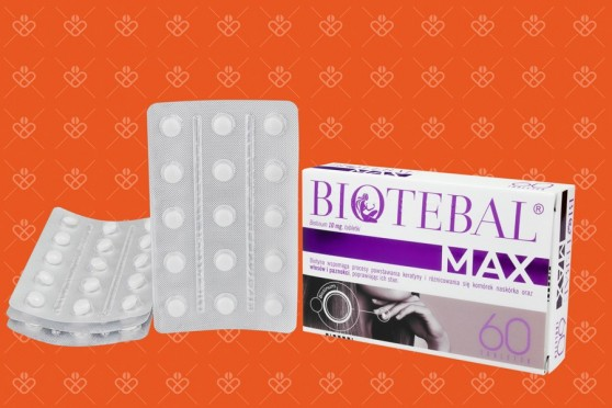 Biotebal max 60 tabletek - cena, biotebal max 60 tab, biotyna max
