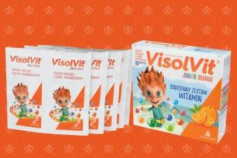 Visolvit Junior Orange, witaminy dla dzieci w saszetkach