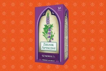Szałwia Fix, 30 torebek, zioła na nadpotliwość, szałwia do płukania, zioła na żołądek