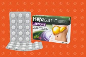 Hepaslimin z biotyną, tabletki na wątrobę i odchudzanie oraz włosy