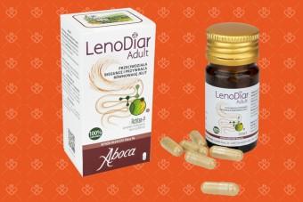LenoDiar Adult, naturalny produkt bez glutenu, Aboca, kapsułki, taniny na biegunkę