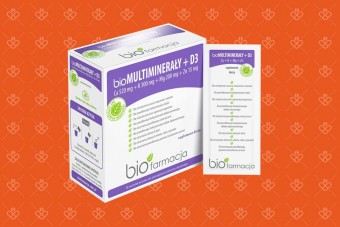 bioMultiminerały + D3 w proszku, 28 saszetek, Biofarmacja
