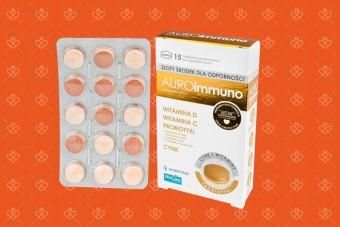 AuroIMMUNO, cynk, witamina D, probiotyk, witamina C, preparat na odporność