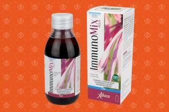 ImmunoMix Plus syrop na odporność z jeżówką i czarnym bzem, 210 g, echinacea w syropie, Aboca