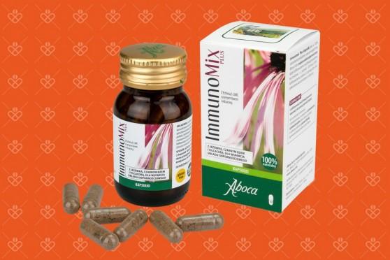 Immunomix Plus kapsułki, Aboca na odporność, jeżówka w kapsułkach, vilcacora, czarny bez