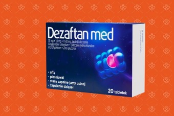 tabletki Dezaftan Med, lek na afty, pleśniawki, zapalenie dziąseł, owrzodzenia
