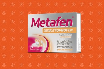 Metafen Dexketoprofen, deksketoprofen 25 mg, tabletki na ból zębów, ból mięśni, ból stawów, bolesne miesiączki