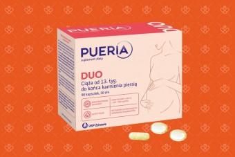 Pueria DUO, tabletki dla kobiet w ciąży od 2 trymestru i dla kobiet karmiących