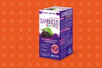 SAMBUCUS dla dzieci, syrop z czarnym bzem, 120 ml