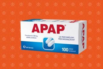 Apap 100 tabletek, paracetamol w dużym opakowaniu bez recepty