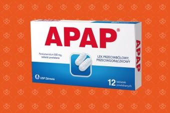 Apap małe opakowanie 12 tabletek, lek z paracetamolem na gorączkę i ból głowy w ciąży