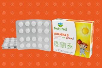 Naturell Witamina D 1000 j. dla dzieci tabletki do ssania, 60 sztuk
