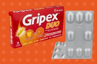Nowy Gripex - lek Gripex Duo do łykania lub rozpuszczania na przeziębienie i grypę