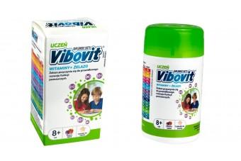 Vibovit uczeń, 30 tabletek do ssania, smak owoce leśne, witaminy i minerały dla dzieci od 8. roku życia