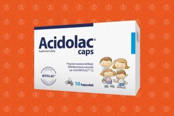 Probiotyk w kapsułkach Acidolac dla dzieci i dorosłych