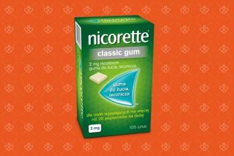 Gumy Nicorette Classic Gum 2 mg - mniej niż 1 paczka papierosów
