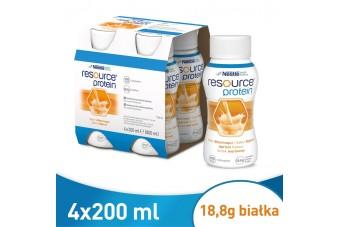 Resource Protein, morela, zamiennik Nutridrinku, 200 ml x 4 butelki