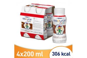 Resource Junior, Smak czekoladowy, 4 x 200 ml