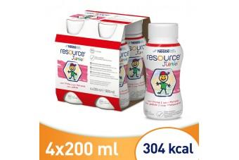 Resource Junior, preparat odżywczy dla dzieci, truskawkowy, kompletna dieta