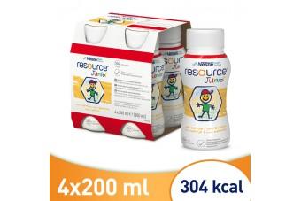 Resource Junior, Smak wanilowy, 4 x 200 ml, Resource dla dzieci