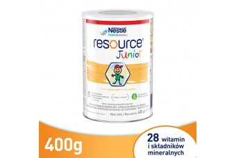 Resource Junior dla dzieci, proszek, 400g, preparat odżywczy, brak apetytu u dziecka
