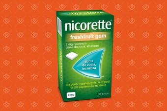 gumy do żucia Nicorette na rzucenie palenia freshfruit gum 2 mg 105 sztuk