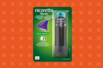 Nikotynowa terapia zastępcza - spray Nicorette o smaku mięty