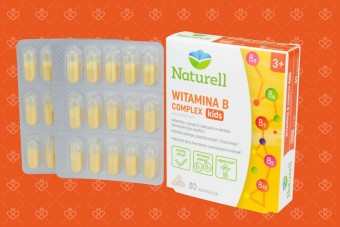 witamina b compleks dla dzieci Naturell Witamina B Complex Kids