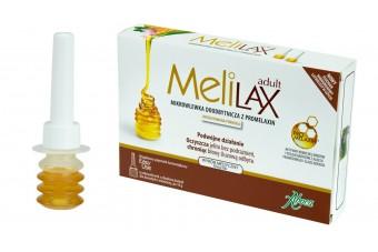 MELILAX Adult na zaparcia, wlewki doodbytnicze, 6 sztuk