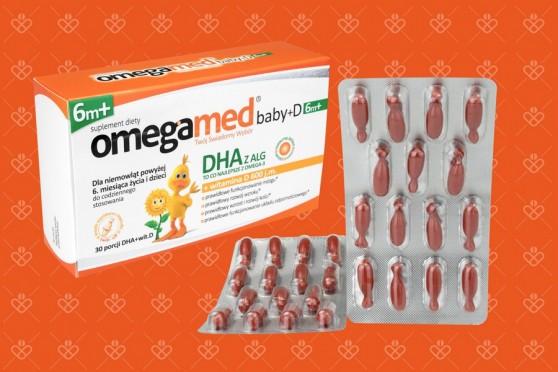 Omegamed Baby D od 6 miesiąca, dha z alg, kapsułki twist-off