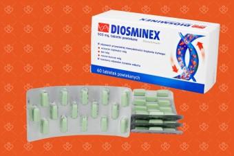 Diosminex, 500 mg, tabletki z diosminą na ciężkie i zmęczone nogi, 60 tabletek