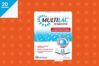 Multilac probiotyk z dużą ilością szczepów, 20 kapsułek