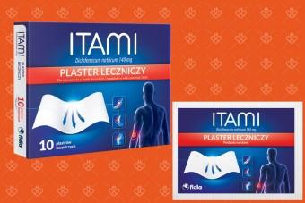 Plastry przeciwbólowe Itami, duże opakowanie 10 plastrów