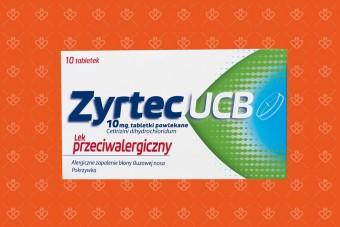 Zyrtec UCB - oryginalny lek z cetyryzyną na objawy alergii