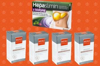 Zestaw - 4x Merz Spezial + 1x Hepaslimin z biotyną
