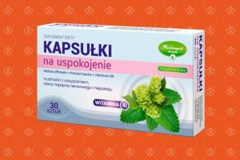 Kapsułki na uspokojenie z melisą i chmielem Tylko Natura Herbapol Poznań