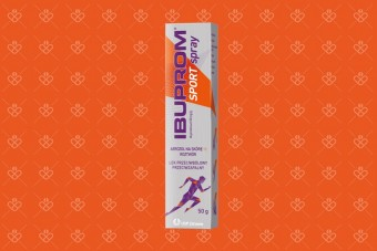Spray Ibuprom Sport z ibuprofenem na bóle
