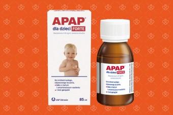 Apap syrop forte dla dzieci z paracetamolem