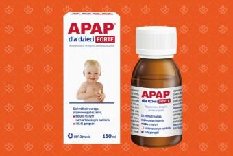 Apap dla dzieci 150 ml syrop paracetamol mała ilość do podania