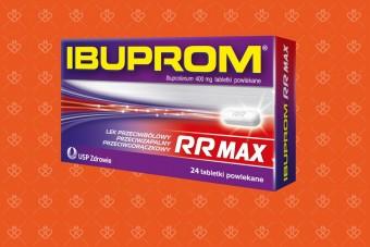 Tabletki na ból i przeciw gorączce Ibuprom Max RR szybko działający