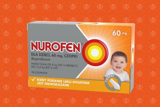 Nurofen dla dzieci czopki, 60 mg
