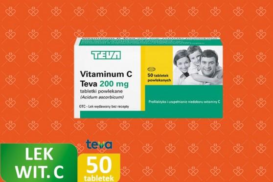 Vitaminum C 200 mg Teva, witamina C jako lek w tabletkach