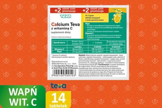 Calcium Teva z witaminą C