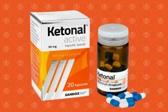 Ketonal Active, 50 mg, 20 kapsułek, lek przeciwbólowy i przeciwzapalny